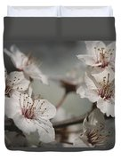 Close View Of Cherry Blossoms Duvet Cover