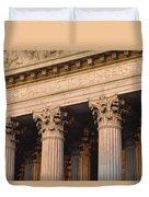 Closeup Of The U.s. Supreme Court Duvet Cover