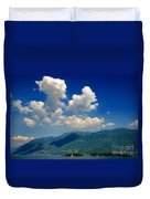 Clouds And Mountain Duvet Cover
