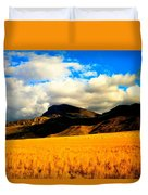 Clouds In The Mountains Duvet Cover