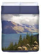 Clouds Over The Mountains Duvet Cover