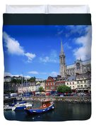 Cobh Cathedral & Harbour, Co Cork Duvet Cover