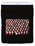 Colored Pencils Duvet Cover