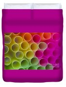 Colorful Straws Duvet Cover