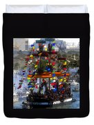 Colors Of Gasparilla Duvet Cover by David Lee Thompson