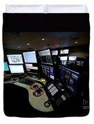 Control Room Center For Emergency Duvet Cover
