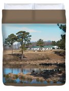 Conversations On The Hill Duvet Cover