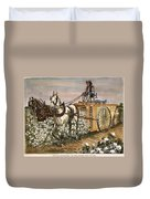 Cotton Harvester, 1886 Duvet Cover