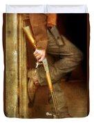 Cowboy With Guns  Duvet Cover