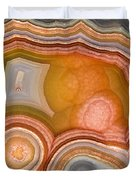 Cross-section Of Mexican Agate Duvet Cover