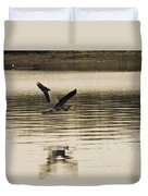 Crossing The Lake Duvet Cover