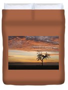 Crowned Cranes At Sunrise Duvet Cover