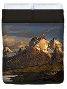 Cuernos Del Paine And Lago Pehoe Duvet Cover