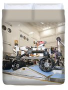 Curiosity Rover In The Testing Facility Duvet Cover
