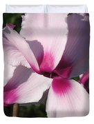 Cyclamen Named Victoria Duvet Cover