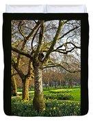 Daffodils In St. James's Park Duvet Cover by Elena Elisseeva