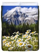 Daisies At Mount Robson Provincial Park Duvet Cover