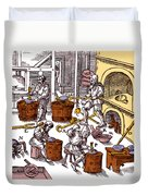 De Re Metallica, Metallurgy Workshop Duvet Cover