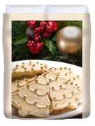 Decorated Cookies In Festive Setting Duvet Cover