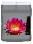 Deep Pink Cactus Flower Duvet Cover