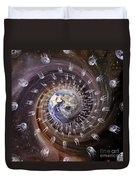 Digitally Enhanced Image Of The Earth Duvet Cover