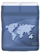 Digitally Generated Image Of The World Duvet Cover