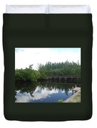 Dock On The North Fork River Duvet Cover