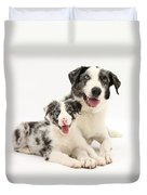 Dog And Puppy Duvet Cover