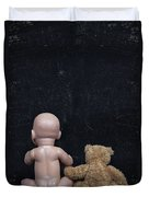 Doll And Bear Duvet Cover