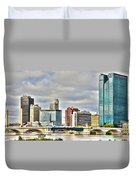 Downtown Toledo Riverfront Duvet Cover