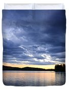Dramatic Sunset At Lake Duvet Cover