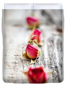 Dried Rose Buds Duvet Cover