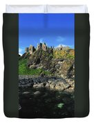 Dunluce Castle, Co Antrim, Ireland Duvet Cover