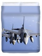 Dutch F-16ams During A Combat Air Duvet Cover