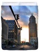 Early Morning Court Street Duvet Cover
