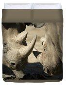 Eastern Black Rhinoceros Duvet Cover