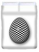 Egg Checkered Duvet Cover