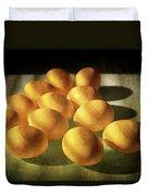 Eggs Lit Through Venetian Blinds Duvet Cover