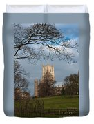 Ely Cathedral In City Of Ely Duvet Cover