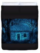 Enchanted Moonlight Cottage Duvet Cover