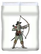 English Archer, 1634 Duvet Cover