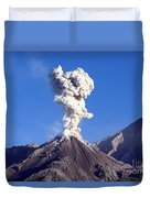 Eruption Of Ash Cloud From Santiaguito Duvet Cover