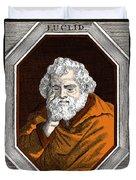 Euclid, Ancient Greek Mathematician Duvet Cover