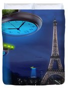 European Time Traveler Duvet Cover