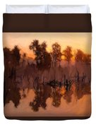 Evening At The Lake Duvet Cover