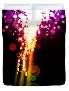 Explosion Of Lights Duvet Cover
