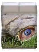 Eye Of A Dinosaur Lightning Duvet Cover