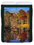 Fall Forest Reflections Duvet Cover