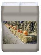 Fall  Halloween On Tillson Street Duvet Cover