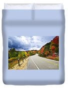 Fall Highway Duvet Cover by Elena Elisseeva